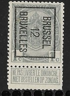 Brussel 1912 Typo Nr. 21B - Precancels