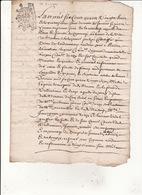 Gen Montauban 14 Jan 1698 Eaux Et Forets Bois Du Pouy Commune De Valentine 3 Scans - Cachets Généralité