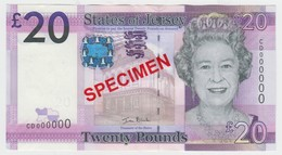 Jersey Banknote New Twenty Pound D Series, Specimen Overprint- Superb UNC Condition - Jersey