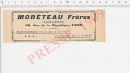 Publicité Presse De 1909 Moréteau Frères Lyon Tailleurs  223XN - Vieux Papiers