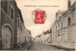 CHAOURCE LA GRANDE RUE ET LA GENDARMERIE  REF 58599C - Chaource