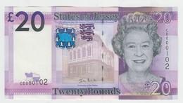 Jersey Banknote New Twenty Pound D Series, Superb UNC Condition - Jersey