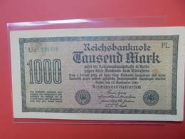 Reichsbanknote 1000 MARK 1922 VARIETE N°2 - [ 3] 1918-1933 : Repubblica  Di Weimar