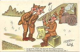 Cpa Humoristiquela Guerre  Illustrateur   Luc Cyl - Humour