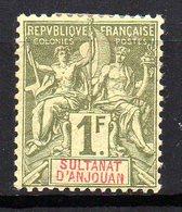 Col11  Anjouan N° 13 Neuf X MH Cote : 100,00 Euros - Neufs