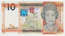Jersey Banknote L Rowley (Signed) Ten Pound D Series,  Superb UNC Condition - Jersey