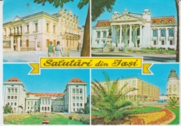 Iasi Monument Museum Church Eglise University Theater Used (ask For Verso) Stationery - Monuments