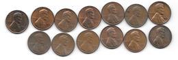 Usa 1 Cent 1968D Or 69-D- 70-71-72-D-73-D-74-D-75D     Km 201  COINS AR XF OR XF+!!!!!!!! - Émissions Fédérales