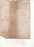 Gen Auch 8 Oct 1751 Eaux Et Forets Plan Figuratif Des Bois De Lissac 3 Scans - Cachets Généralité