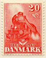 PIA - DANIMARCA -1947 : Centenario Delle Ferrovie    - (Yv 312) - Treni