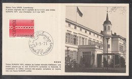 Éditions Tony Krier Luxembourg 1971 - EUROPE CEPT CAPITALE DE LA C.E.E. BONN - Maximum Cards