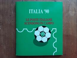 REPUBBLICA - Mondiali Di Calcio 1990 - Libretto Ufficiale Completo Francobolli E B.F. Nuovi ** + Spedizione Prioritaria - 6. 1946-.. Repubblica