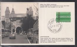 Éditions Tony Krier Luxembourg 1971 - EUROPE CEPT CAPITALE DE LA C.E.E. AMSTERDAM - Maximum Cards