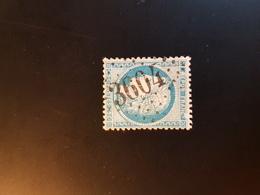 N°60A, 25 Cts Bleu , GC 3604, Ste Foy Tarentaise, Savoie. - Marcophilie (Timbres Détachés)