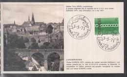 Éditions Tony Krier Luxembourg 1971 - EUROPE CEPT CAPITALE DE LA C.E.E. LUXEMBOURG - Maximum Cards