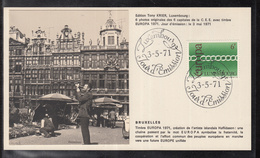 Éditions Tony Krier Luxembourg 1971 - EUROPE CEPT CAPITALE DE LA C.E.E. BRUXELLES - Maximum Cards