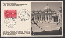 Éditions Tony Krier Luxembourg 1971 - EUROPE CEPT CAPITALE DE LA C.E.E. ROME - Maximum Cards
