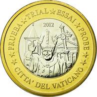 Vatican, Médaille, 1 E, Essai-Trial Benoit XVI, 2012, FDC, Bi-Metallic - Jetons & Médailles