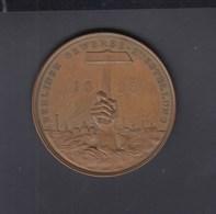 Dt. Reich Berlinerg Gewerbeausstellung 1896 Medaille 37,94 Gramm 45 Mm - Germania
