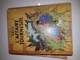 TINTIN AFFAIRE TOURNESOL-1956-B19-EO-TRES MAUVAIS ETAT - Tintin