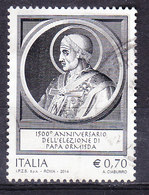 2014  PAPA ORMISDA USATO - 6. 1946-.. Repubblica