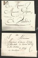 (D147) 2 Lettres De MALINES (MALINES En Noir à Peine Visible De 1766 Et En Rouge De 1789) - 1714-1794 (Pays-Bas Autrichiens)