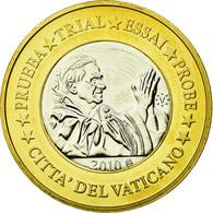 Vatican, Médaille, 1 E, Essai-Trial Benoit XVI, 2010, FDC, Bi-Metallic - Jetons & Médailles