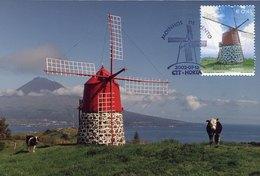 41335 Portugal, Maximum  2002,  The Windmill Of  Faial Acores,  Moulin A Vent  Windmuhle - Cartes-maximum (CM)