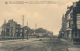 CPA - Belgique - Flandre Occidentale - Ruines De Middelkerke 1914-18 - Place Et Avenue Léopold Vers Ostende - Middelkerke
