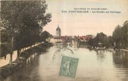 25 - PONTARLIER - LE DOUBS AU BARRAGE - Edit. L. Gaillard Prêtre Besançon Imp. B & G Lyon - 979 - Pontarlier