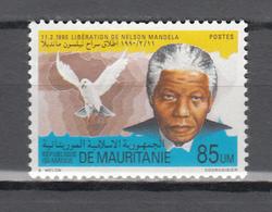 Mauritania 1990,1V ,dove,duif,Nelson Mandela,birds,vogels,vögel,oiseaux,pajaros,uccelli,aves,MNH/Postfris(A3658) - Columbiformes