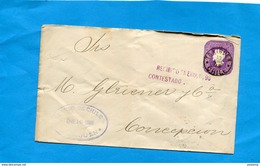 Marcophilie-CHILI--lettre Entier Postal-stationnery 5 C Colomb-cad TRAIGUEN -1898->CONCEPTION - Chili