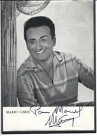 Autographe Signature à L'encre Mario CARSY - Autographes