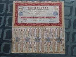METROCOLEX (Métropolitaine Et Coloniale D'entreprises - Action De 1000 Francs Au Porteur (document Complet) - Afrique