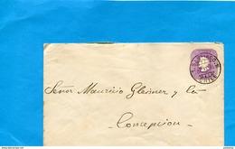 Marcophilie-CHILI--lettre Entier Postal 5 C Colomb-cad SANTIAGO-1896->CONCEPTION - Chili