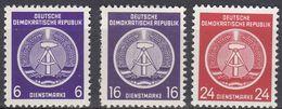 GERMANIA DDR - 1954 - Lotto 3 Valori Nuovi MNH - Servizio Yvert 2, 7 E 9. - Service