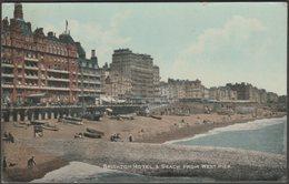 Brighton Hotel & Beach From West Pier, Brighton, Sussex, 1919 - ETW Dennis Postcard - Brighton