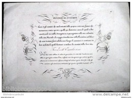 INCISIONE VECCHIA ITALIANO.: DESIDERIO - AVIDITA < Antonio SELLA Scrisse & Giacomo BONNANI, Incise - Affiches