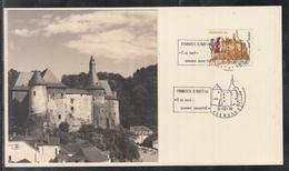 Éditions Tony Krier Luxembourg 1970 - Château De CLERVAUX - Sonderstempel Clervaux 09-12-1970 - Maximum Cards