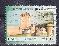 2018  EUROPA PONTE METAURO FERMIGNANO USATO - 6. 1946-.. Repubblica