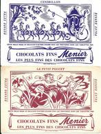 GF1113 - BUVARDS CHOCOLAT MENIER - CENDRILLON - LE PETIT POUCET - LE PETIT CHAPERON ROUGE - Chocolat