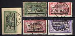 Memel (Klaipeda) 1922 Mi 88-89; 91-93, Gestempelt [120119XXII] - Klaipeda