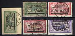 Memel (Klaipeda) 1922 Mi 88-89; 91-93, Gestempelt [120119XXII] - Memelgebiet
