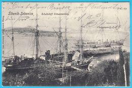 SIBENIK-SEBENICO Croatia - K.u.K. Kriegsmarine Schulschiff SCHWARZENBERG * Training Ship Of Austria-Hungary Navy (1904.) - Croatie