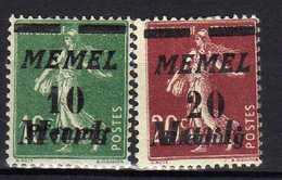 Memel (Klaipeda) 1922 Mi 108-109 * [120119XXII] - Memelgebiet