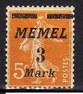 Memel (Klaipeda) 1922 Mi 110 * [120119XXII] - Memelgebiet