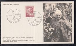 Éditions Tony Krier Luxembourg 1971 - Visite Royale De S.M. La Reine Des Pays-Bas - Maximum Cards