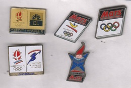 Lot De 5 Pin's Jeux Olympiques Alberville Et Barcelone 1992 - Olympic Games