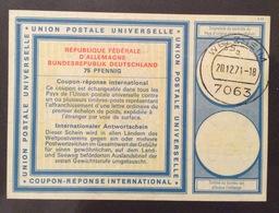 COUPON REPONSE  INTERNATIONAL GERMANIA  REPUBBLICA FEDERALE   75 Pfenning - Posta