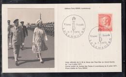 Éditions Tony Krier Luxembourg 1971 - Visite Royale De S.M. La Reine Des Pays-Bas Au Grand Duché - Maximum Cards